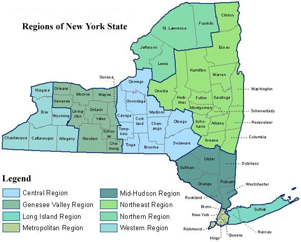 Regions of New York State