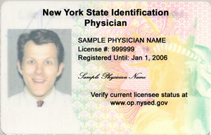 Photo ID sample - front.
